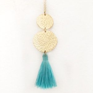 Gorjana gold tassel necklace